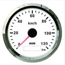 85mm White GPS speedometer 0-120km/h for car truck CMSB-WS-120L (SV-KY08121)