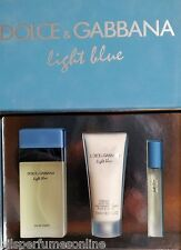 D&G Light Blue Dolce&Gabbana for women SET 100 ml VAPO+BODY CREAM 100 ml