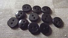 12 BOUTONS Noir * 9 mm 0,9 cm * 2 trous  black Button sewing neuf lot couture