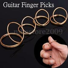 4Pcs/set Gold Guitar Plectrums Finger Picks Fingerstyle with Thumb For Guitar
