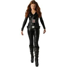 Ladies black widow costume-femme grande taille 16-18 marvel avengers fancy dress