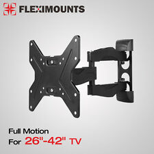 Full Motion Tilt Swivel LCD LED TV Monitor Wall Mount Bracket 26 32 37 39 40 42