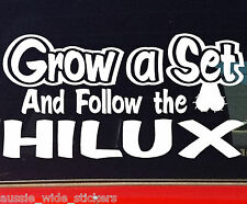 HILUX GROW 4x4 dual cab ute Funny Car accessories Stickers 200mm