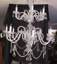 EUROPEAN CRYSTAL CHANDELIER  DOUBLE TIER