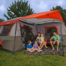 Ozark Trail 12 Person 3 Room L-Shaped Instant Cabin Family Camping Tent Hiking