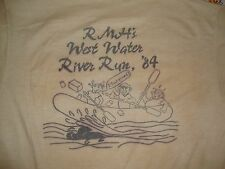 Vintage Rocky Mountain Helicopters 1984 West Water River Run Thin T Shirt M