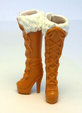 Barbie Accessories Mattel new high heels brown white long boots shoes S700113