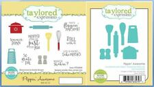 Taylored Expressions Cling Stamp/Die Set FLIPPIN' AWESOME Cooking ~TEMS99/TE727