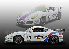 2011 Porsche Cayman Martini Vintage Classic GT Race Car Photo (CA-0891)