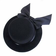 Ladies Hat Fascinator Burlesque Millinery w/ Bowknot - Black B3