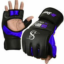 Auth. Rex Leather MMA Grappling Gloves Boxing Punch Bag UFC Gel Tech Muay Thai B