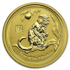 2016 ~ 1/10th~OZ.  PURE .9999 GOLD ~ YEAR  of the  MONKEY ~ PERTH MINT ~ $158.88