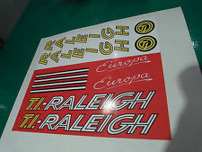 "Vintage Raleigh ""Europa"" decal set for 1982-1983 frames. New artwork and print."