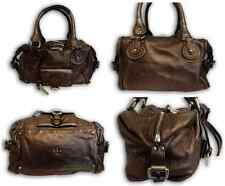100%Authentic Chloe Paddington Bronze Metallic Calfskin Leather Totebag ITALY