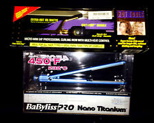 "Babyliss Nano Titanium Ultra Thin Flat Iron (1"" inch)  + FREE Hot Tools Curler"