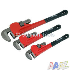 Réglable 3pc stilson pipe wrench tool set singe plombier pince