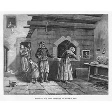 Turquía día de horneado en un pueblo griego en las llanuras de Troya-Antiguo impresión 1878