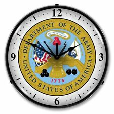 NEW  MILITARY US ARMY SEAL  BACKLIT LIGHTED RETRO CLOCK - WE PAY THE SHIPPING*