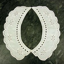 Period Cream Broderie Anglaise Lace Collar  Cream Lace Sewn On Dressmaking, LC61