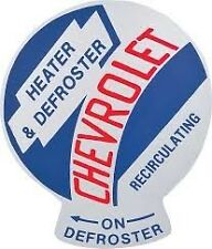 1955-59 Recirculating Heater and Defroster Decal  QUALITY LICENSED DECAL.