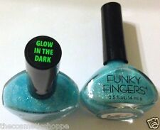 FUNKY FINGERS GLOW-IN-THE-DARK Holographic Glitter Nail Polish #  7012 #8002U