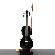 New 1/4 Size Black Student Acoustic Basswood Violin for 6-8 years old