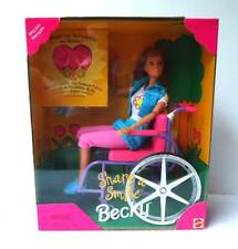 BARBIE BECKY DOLL SHARE A SMILE WHEELCHAIR ~ NRFB ~ #1jh