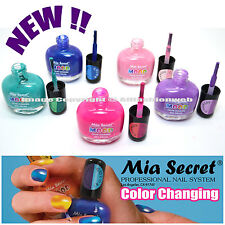 5 PCS MIA SECRET NEW ! MOOD COLOR CHANGING NAIL POLISH LACQUER USA 5MIAMOOD#02