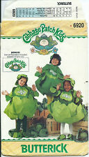 B 6920 sewing pattern CABBAGE PATCH KIDS sew COSTUME HAT child 2-6x + TRANSFERS