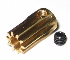 """Brass 10 Tooth Gear for 3.17 mm Shafts - 10T - 3.17mm - .125"""" Pinion Gear"""