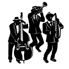 Swinging JAZZ TRIO SILHOUETTE Die-Cuts* Wall Decorations*Roaring 20's*MARDI GRAS