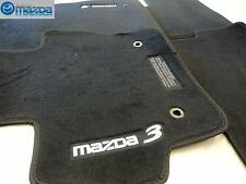 Mazda 3 2010-2013 New OEM Black Floor Mats Set of Four With Gray Lettering
