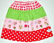 Momi Boutique Girl's Homemade Strawberry Shortcake Skirt Size M 7/8 MINT USA