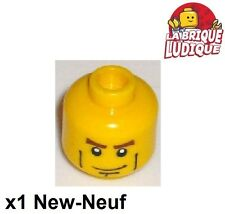Lego - 1x minifig tête head homme smile sourire jaune/yellow 3626cpb0204 NEUF