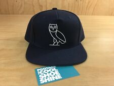 October's Very Own OVO Owl Logo Snapback Hat  Navy Blue Silver Drake Canada