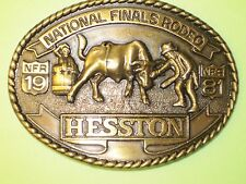 National Finals Rodeo Hesston 1981 NFR Adult Cowboy Buckle, Vintage,  Bull