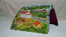 Vintage 1950's Antique Marx Toys Metal Litho Model Train Tunnel Scenic Mountains