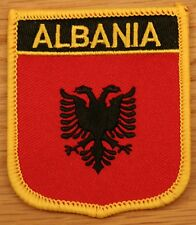 ALBANIA Albanian Shield Country Flag Embroidered PATCH Badge P1
