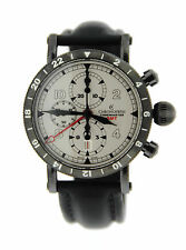 Chronoswiss Timemaster GMT Black Stainless Steel Watch CH-7535-GST