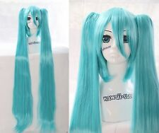 y-220 VOCALOID MIKU perruque COSPLAY 120cm bleu blue