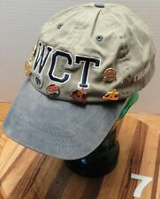WESTERN CONTAINER TRANSPORT, BEIGE&NAVY COTTON TRUCKER HAT VELCRO STRAP, GUC!