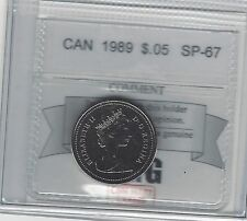 **1989**, Coin Mart Graded Canadian,  5 Cent, **SP-67**