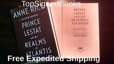 SIGNED Vampire Chronicles Prince Lestat and the Realms of Atlantis by Anne Rice