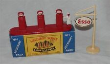 1960s.Matchbox Lesney.A 1.Esso GAS.Petrol.Pumps Sign Accessory Pack.MINT IN BOX