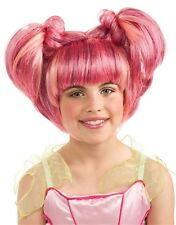 Child Girls Pink Springtime Fairy Costume Wig With Pigtails