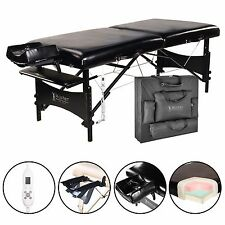 Master Massage 30 Galaxy Therma Top Portable Table Package Black Minor Defective