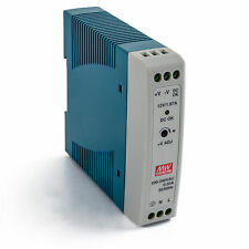"""MEAN WELL MDR-20-24 AC to DC DIN-Rail Power Supply, 24V, 1 Amp, 24W, 1.5"""""""