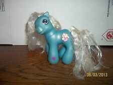 2003 2004 HASBRO MY LITTLE PONY PONIES BLUE BABY BELLALUNA SUPER LONG HAIR PONY
