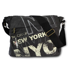 Robin Ruth Umhängetasche Überschlagtasche NEW YORK Canvas schwarz OTG200W