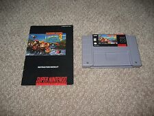 Donkey Kong 3 Dixie Kong's Trouble SNES Super Nintendo - Cartridge & Booklet